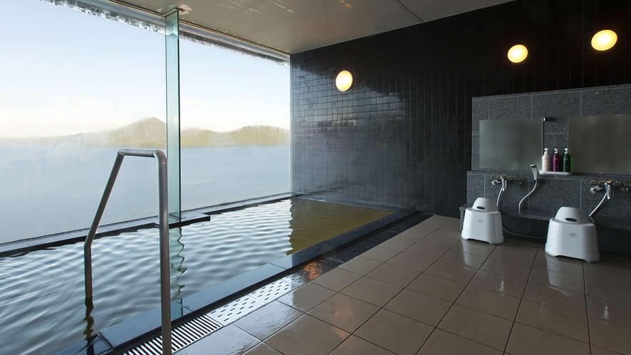 【貸切風呂】洞爺の絶景を独り占めできる天然温泉の貸切風呂。