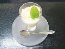 デザート(自家製フルーツヨーグルト)