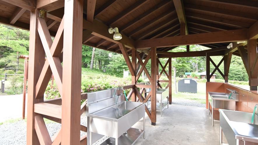 *【キャンプ場:炊事場】オートキャンプ場も併設しております。