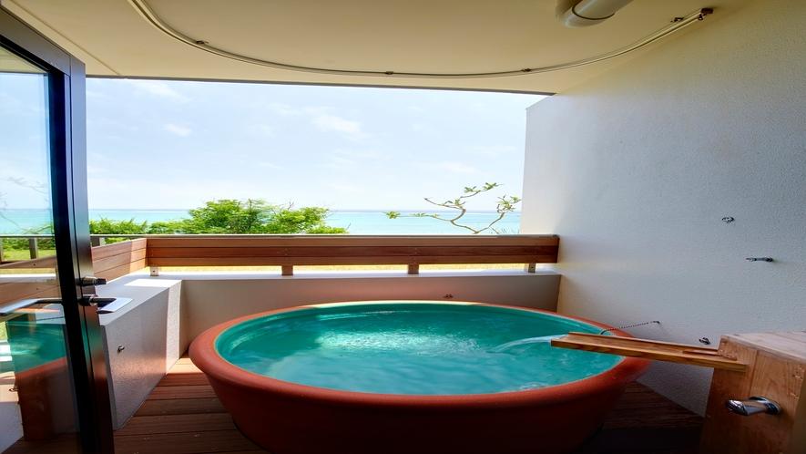 客室露天風呂 2