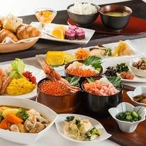 和洋と海鮮の朝食ビュッフェ