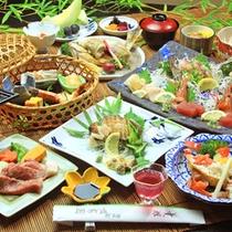 アワビと懐石料理をお楽しみ頂けるメニューです。