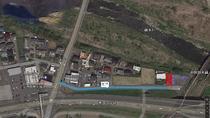 ビジネスホテルKAWA本館からコテージまでは車で1分(230m)ほどです。