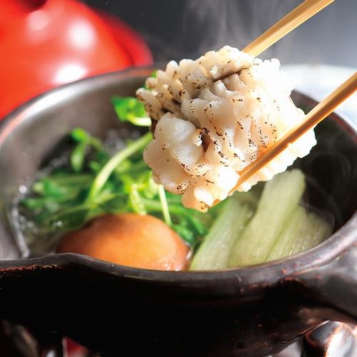 鱧と素麺瓜の鍋吸い