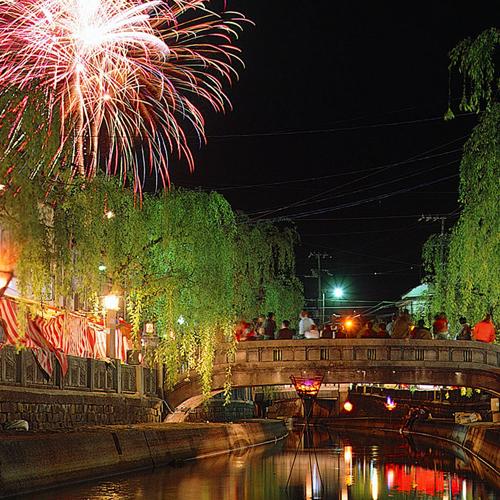 <城崎温泉夢花火>夏休みの平日は毎日上がります