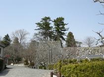 近づいてきました松阪城址