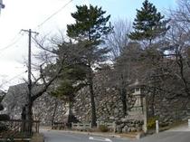 戦国武将蒲生氏郷が築城しました