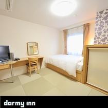 和洋室 (18平米 ベッド幅:120×195センチ 和布団)