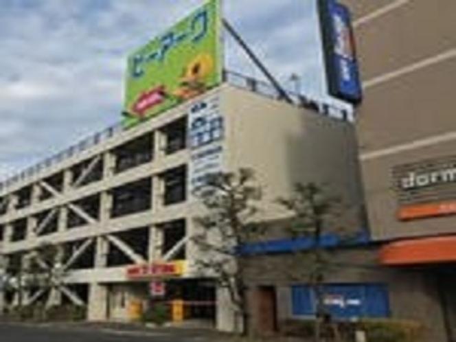 ホテルお隣に提携駐車場ござます 谷塚駅東口共同駐車場
