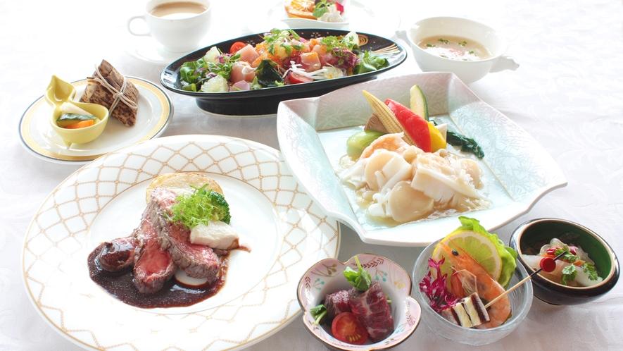 洋食ディナーの一例