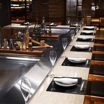 日本料理「十二颯」鉄板焼カウンター