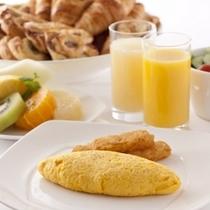 【朝食イメージ】ふわふわオムレツを召し上がれ