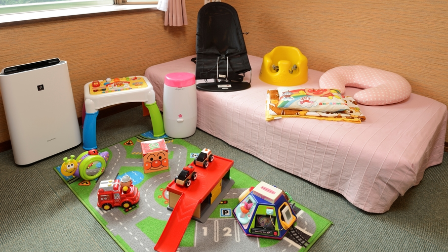 赤ちゃんルームの備品一例
