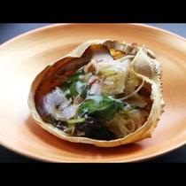 ◆【ご夕食一例・単品】カニの甲羅蒸し