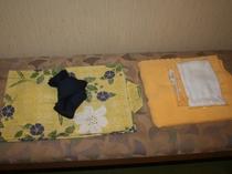 ゆかた バスタオルは客室に常備してあります。