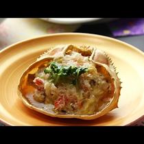 【ご夕食一例・単品】カニの甲羅蒸し