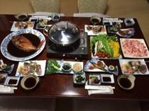 古民家での夕食