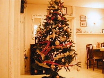 クリスマスツリーはダイニングルームにありますよ。