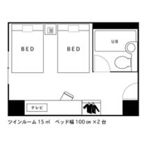 ◇間取り図◇ツインルーム