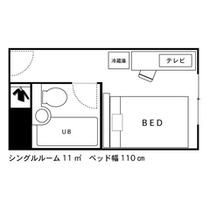 ◇間取り図◇シングルルーム(1名利用時)