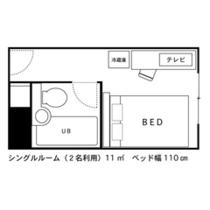 ◇間取り図◇シングルルーム(2名利用時)