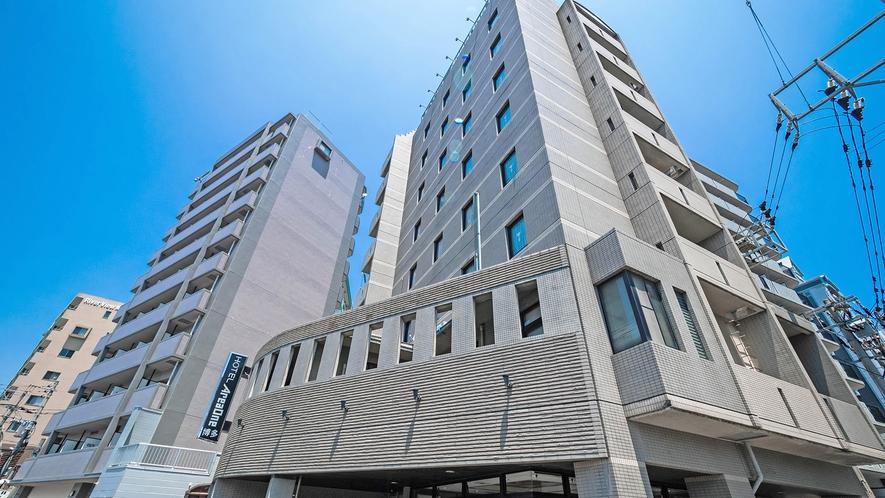 〇ホテル外観【博多駅から徒歩7分、福岡空港から車で15分】