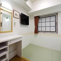 客室の一例(和室) ※布団を敷いた状態でのご案内となります。