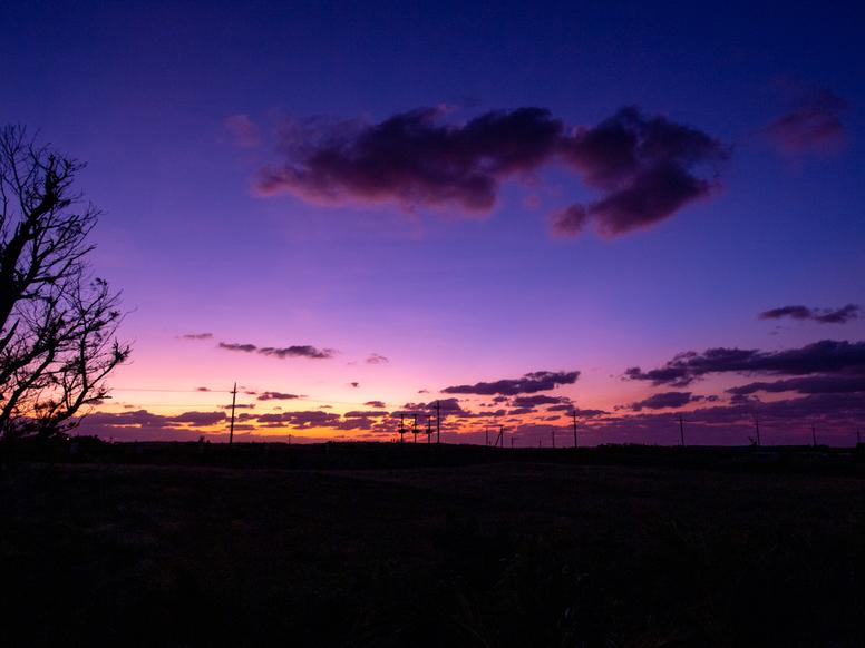 施設からの眺望・夕日