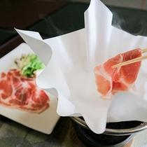 *【夕食一例】しゃぶしゃぶ美味しいお肉。
