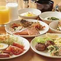 朝食バイキング盛り付け例