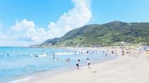 夏の根本海岸♪宿の目の前です