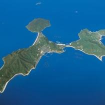 粟島航空写真