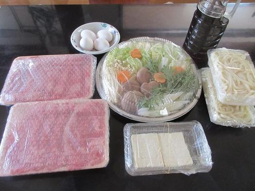【九州産-A5-黒毛和牛すき焼き(150g/人)+野菜+うどん付プラン】この旨み甘みは至極の一品♪