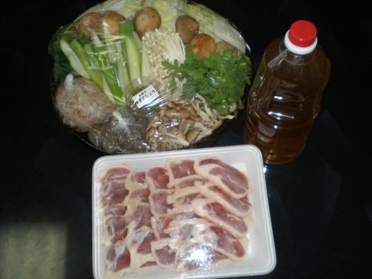【おいしい鴨鍋セット(鴨肉、野菜、ちゃんぽん麺)付プラン】地元でも有名な鴨鍋店よりお取り寄せ♪