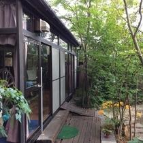 庭からサンルーム