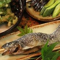 夕食 焼き魚 (1)