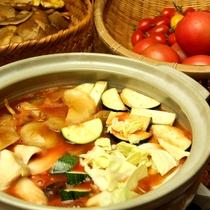 奥飛騨産の「桃太郎トマト」を使った完熟トマト鍋♪