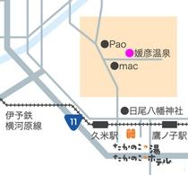 媛彦温泉地図