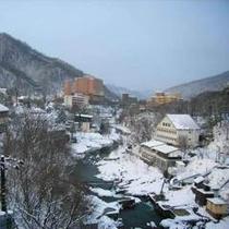 定山渓温泉~雪~
