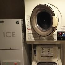 コインランドリー、製氷機は2階にございます