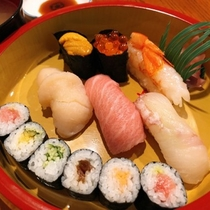 【 寿司 出前プラン (夕食一例) 】 地元のおススメ店から出前♪