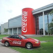 *【グリーンパークえびの コカ・コーラ工場】グッズの販売や懐かしい自販機などの展示があります。