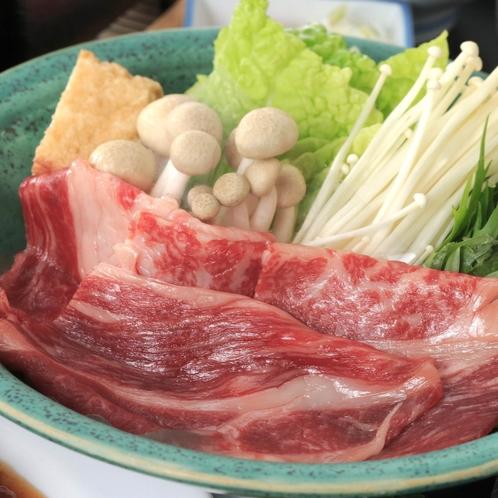 贅沢プランのメインのお料理は黒毛和牛のしゃぶしゃぶです。