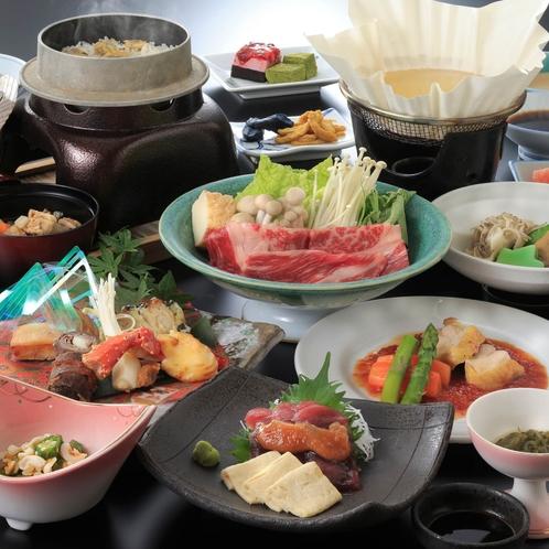 特別和食会席!福島産黒毛和牛のしゃぶしゃぶ付の贅沢プラン