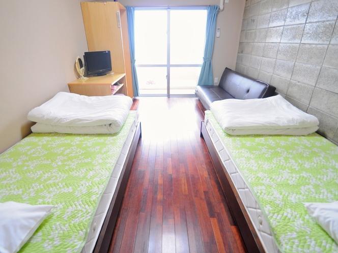【客室:洋室ツイン】日当たりのよいツインルーム