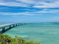【周辺:伊良部大橋】全長3540mの島を繋ぐ橋
