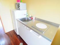 【キッチン】全室キッチン付。宮古の食材をご自分で調理可能です。