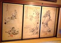 襖絵(滝和亭)