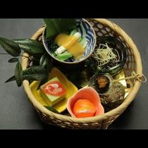 ◆【ご夕食一例】前菜5種