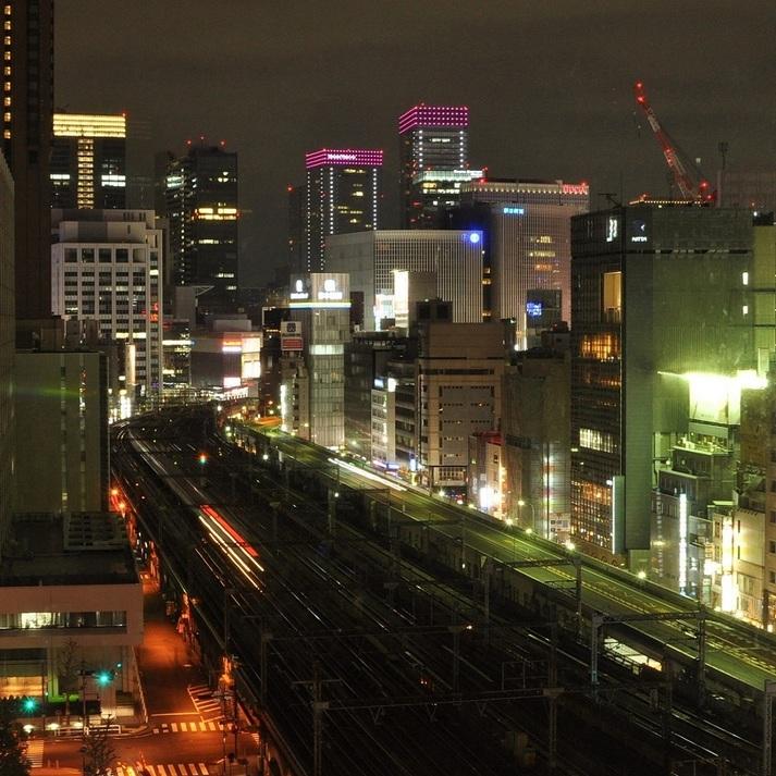 トレインビュールームからの夜景